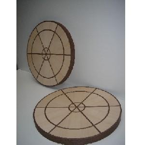 Composición artística o geométrica - Trabajo de chapeado con diversas composiciones.