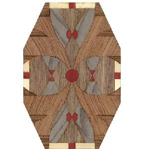 Motivo de marquetería AD1670 - Motivo de marquetería de línea Art Decó.