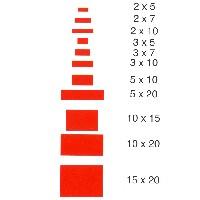 Listón rectangular de pino oregón de 1 mt.  - Listón rectangular de pino oregón de 1 mt. de largo en diversas secciones.