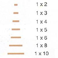Filete de ramín de 1 mm. de espesor - Filete de ramín de 1 mm. de espesor en diferentes secciones.
