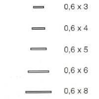 Filete de caoba africana de 0.6 mm. de espesor. - Filete de caoba africana de 0.6 mm. de espesor, 1 mt. de largo y diferentes anchos.