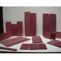 Despiece de madera de amaranto. -  Despiece de madera de amaranto en piezas para la construcción de un bargueño