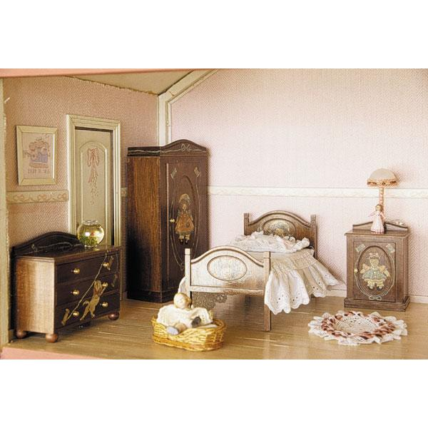 habitaci n individual completa muebles en kit miniarte