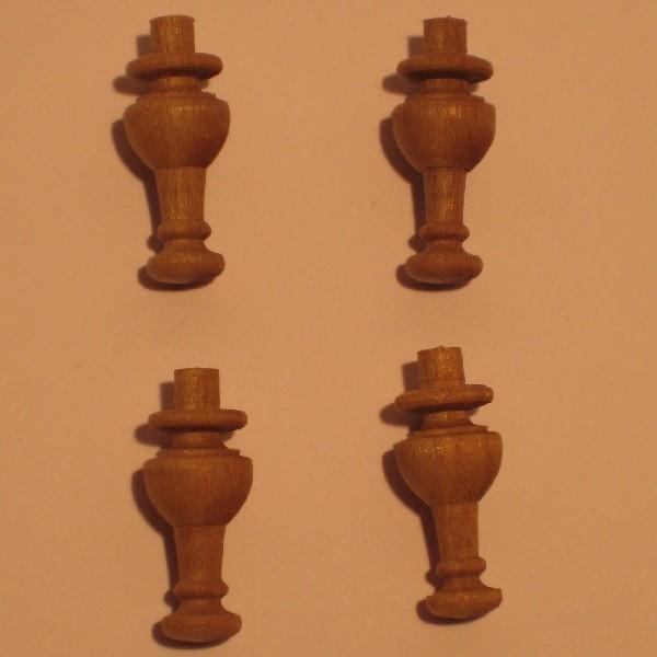 4 patas torneadas para mesa baja r agullo venta de for Patas para muebles madera