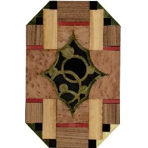 Motivo de marquetería AD1694 - Motivo de marquetería de línea Art Decó.