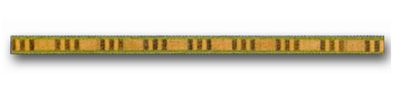 Greca de madera Ref. F-6 - Greca de madera de 1 mt. de largo y 0,9 mm. de espesor.