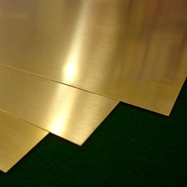 Plancha de latón de diferentes espesores - Plancha de latón de 20 x 20 cm. en diferentes espesores.