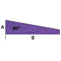 Borde de salida en ángulo recto de 1 mt. de largo