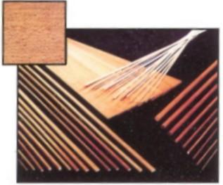Filete de nogal africano de 1 mm. de espesor. - Filete de nogal africano de 1 mt. de largo y 1 mm. de espesor, con diferentes anchos.