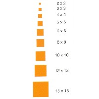 Listón cuadrado de cedro rojo de 1 mt. - Listón cuadrado de cedro rojo de 1 mt. de largo en diferentes secciones.