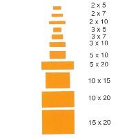 Listón rectangular de cedro rojo de 1 mt. - Listón rectangular de cedro rojo de 1 mt. de largo en diferentes secciones.