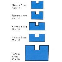 Listón ranurado de samba de 1 mt. - Listón ranurado de samba de 1 mt. de largo en diferentes secciones.