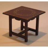 Mesa cocina pintada y decorada a mano - Mesa de cocina Miniarte montada, pintada y decorada a mano.