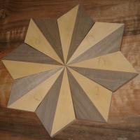 Piezas para la restauración de un suelo - Elaboración de piezas a medida para restaurar el suelo, formando unas estrellas.