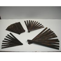 Piezas de madera de ébano laminadas - Laminado de piezas de madera de ébano para restauración de un bargueño.