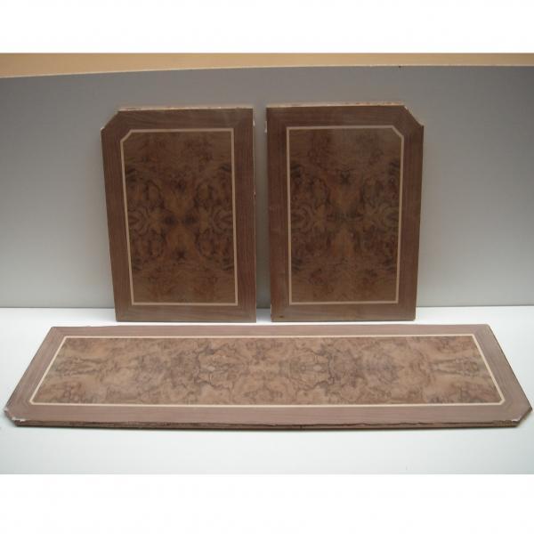 Puertas de raiz de nogal y tapa a juego - Fabricación de dos puertas en raiz de nogal y una tapa de velador a juego